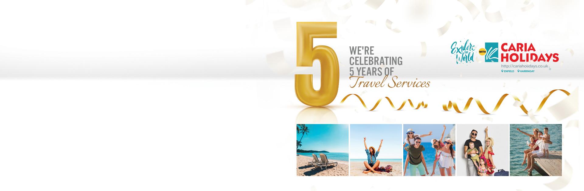 5 Years of Travel Service Anniversary